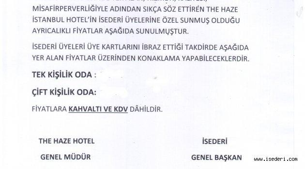 THE HAZE KARAKÖY OTELİ PROTOKOLÜ