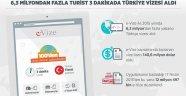 6,3 milyondan fazla turist 3 dakikada Türkiye vizesi aldı...