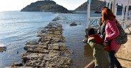 Deniz çekildi tarihi surlar ortaya çıktı
